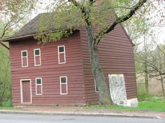 The Voorleezer's House, Historic Richmondtown, Staten Island, NY.  It is said by some that ghostly faces can be seen through the windows, and strange occurrences have been known to take place here.