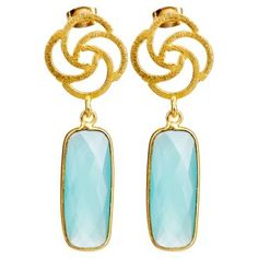 Check out this item at One Kings Lane! Chalcedony Pillow Drop Earrings