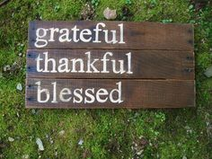 Rustic Wood sign Fall home decor  wedding fall decor Reclaimed wood hand painted family sign Grateful Thankful Blessed inspirational quote on Etsy, $35.00