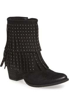 696cd826d54 Coconuts by Matisse Studded Fringe Bootie (Women) available at #Nordstrom  Fringe Booties,