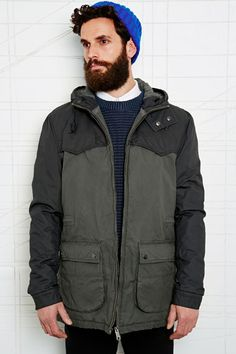 Selected Homme Two-Tone Hooded Jacket at Urban Outfitters