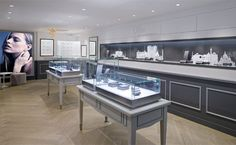 Ofée French Jewellery Boutique by Stefano Tordiglione Design, Hong Kong Interior Design Hong Kong, Interior Design Studio, Jewellery Shop Design, Jewellery Showroom, Jewelry Shop, Jewelry Stores, Fine Jewelry, Store Window Displays, Display Window