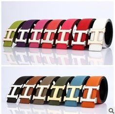 Hermes belt colorful I want every color!