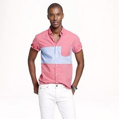 Crew for the Short-sleeve pieced vintage oxford shirt for Men. Find the best selection of Men Shirts & Tops available in-stores and online. Casual Wear, Men Casual, Street Trends, J Crew Shorts, J Crew Men, Mens Style Guide, Casual Looks, Mens Fashion, Fashion Guide
