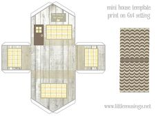 Little house templates. Free printables.
