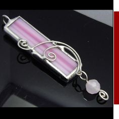 Pink Soldered Stained Glass pendant