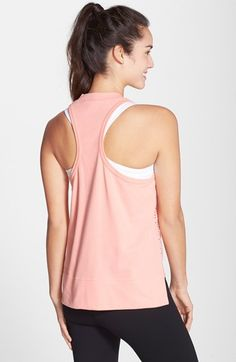 adidas by Stella McCartney Mesh Front Racerback Tank | Nordstrom