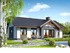 Dom w nerinach Beautiful House Plans, Beautiful Homes, Modern Brick House, House Viewing, Tuscan House, Ranch Style Homes, Small House Design, Facade House, Home Decor Kitchen
