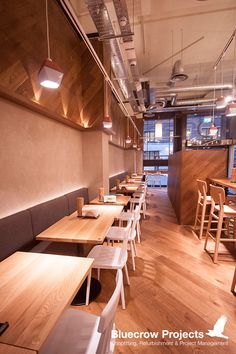 Bluecrow Projects has completed a udon restaurant on New Oxford Street, Ichiryu is from the people behind Japan Centre and Shoryu #Restaurants #Interiors