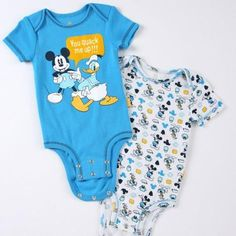 Disney Cuddly Bodysuit™ with Grow-An-Inch-Snaps™ MICKEY MOUSE & DONALD DUCK 2-Pack