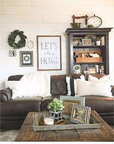 40 Stunning Farmhouse Living Room Decorating Ideas 61 Farmhouse Living Rooms • Modern Farmhouse Living Room Decor Ideas Family Rooms Dens 8