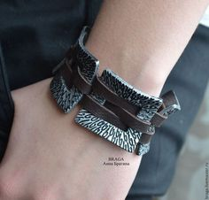 Leather and Polymer Clay - from Anna Bragina