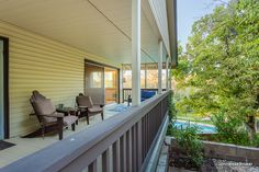 East facing covered deck, perfect for enjoying your coffee or yoga session while taking in the stunning sunrise.