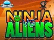 Ninja vs Aliens    Alien started to attack the world, its time to wake up. Help the little ninja to destroy the alien and save the world from alien invasion. Need to kill all the enemies within the time limit and also remember you have only 3 chances to win the game. Complete the target to move successive levels. All the best !!! use mouse to interact  http://ezarcade.net/games/ninja-vs-aliens/