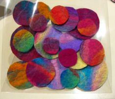 Gorgeous packet of 20 handmade felt circles by frostfair on Etsy, $8.00