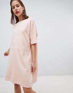 c976071802b ASOS Petite ASOS DESIGN Petite sunflower print v neck swing dress in ...