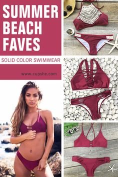 Live life on the beach~ Free Shipping & Easy Return + Refund! High quality & Better service! Cupshe has hot solid color swimwear will help you win all attention in the summer air. Find more summer beach faves at Cupshe,com