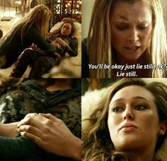 Who can't cry? The 100 Tv Series, The 100 Show, Lexa The 100, The 100 Clexa, Commander Lexa, The 100 Quotes, 100 Memes, Clarke And Lexa, Alycia Debnam Carey