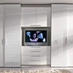 Super Bedroom Wardrobe With Tv Tv Armoire Ideas Fitted Bedroom Furniture, Fitted Bedrooms, Bedroom Dressers, Bedroom Decor, Office Furniture, Wardrobe Design Bedroom, Bedroom Cupboard Designs, Master Bedroom Closet, Built In Bedroom Cabinets