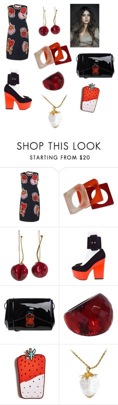 """Chic Fruit"" by savannah-foster-330 ❤ liked on Polyvore featuring Victoria Beckham, CÉLINE, Christopher Kane, Angélique de Paris, Celebrate Shop and Steuben"