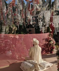Pakistan's Most Iconic Fashion Designer Ali Xeeshan Got Nikkahfied Today Desi Wedding Decor, Home Wedding Decorations, Stage Decorations, Wedding Ideas, Bridal Mehndi Dresses, Pakistani Wedding Dresses, Nikkah Dress, Bridal Gowns, Nikah Ceremony