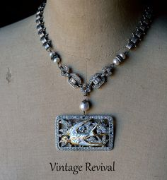 Snow Bird Necklace/Vintage Necklace by thevintagerevivals on Etsy