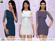 The Sims Resource: Serenity - Dress by Metens • Sims 4 Downloads