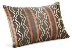 When designing this pillow, we were inspired by geometric patterns found in vintage Latin American weavings.