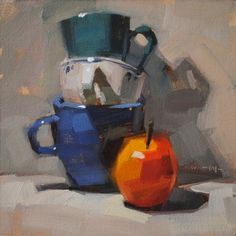 Apple Stack, painting by artist Carol Marine