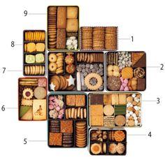 【缶入りクッキー編】決定版! ジャンル別、手みやげ案内。   レシピとグルメ   クロワッサン オンライン Cute Cookies, Sugar Cookies, Gift Box Design, Cookie Packaging, Cookie Box, Cookie Designs, Cute Food, Holiday Gift Guide, Macarons