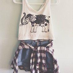 Teenage Fashion Blog: Love This Print & Plaid Teenage Outfit Look !