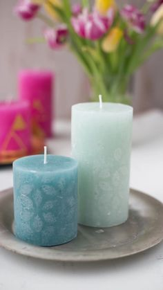 Cute Candles, Best Candles, Pillar Candles, Easy Crafts, Arts And Crafts, Candle Craft, Handmade Candles, Diy Videos, Candle Making