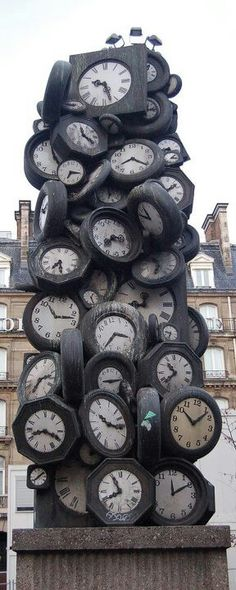 A clock tower.