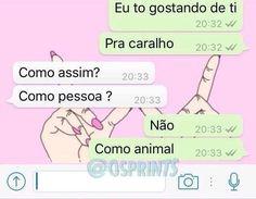 Prints engraçados - O melhor programa de humor que existe  o WhatsApp brasileiro