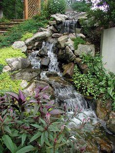 garten - wasserfall trockenmauer naturstein | garten - quellstein, Garten und Bauen