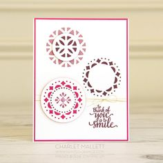 Eastern Palace card - Stampin' Up! Thank Goodness It's Friday, Eastern Palace, Beautiful Handmade Cards, Stamping Up, Craft Projects, Card Making, Paper Crafts, Floral, How To Make