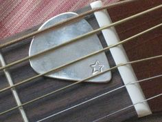 Handmade Guitar Pick Upcycled Spoon Bowl  www.laughingfrogstudio.etsy.com $15.00