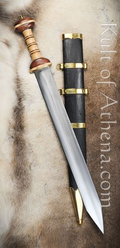 Roman Gladius with Contrasting Hilt Swords And Daggers, Knives And Swords, Gladius Sword, Imperial Legion, Roman Gladius, Roman Sword, Rome History, Sword Design, Medieval Weapons