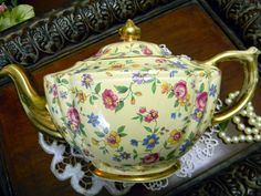 James Sadler Teapot  Chintz Wildflowers on von TheVintageTeacup, $97.75