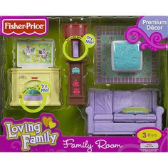 """Fisher-Price Loving Family - Family Room - Fisher-Price - Toys """"R"""" Us Anika is getting a dollhouse for Christmas and needs furniture"""