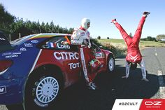 Both in 2004 and 2005 Sébastien Loeb and Daniel Elena won the World Rally Championship with the Citroën Xsara WRC team mounting our OZ Wheels!