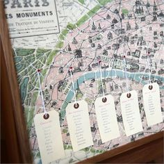 Vintage Paris Map Seating Plan - Would work great for Edinburgh!!