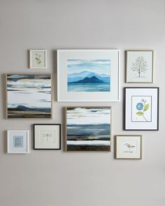 Botanical Prints & Abstract Giclees Wall Gallery at Horchow.