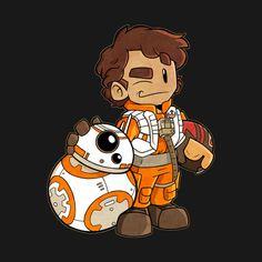 Awesome 'Poe+Dameron+and+BB-8' design on TeePublic!