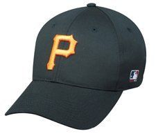MLB ADULT Pittsburgh PIRATES Home ALL Black Hat Cap Adjustable Velcro TWILL by OC Sports Team MLB Outdoor Cap Co.. $9.35. We are your team supplier with team qtys available.  This our most popular style cap with a retail tag of $21.99 you can purchase for your team at a fraction of the price. -Available in Adult(over 12yrs) -Newest Style and Design -6 Panel Twill Construction -Raised 3-D Logo on Front -MLB Logo on side -Adjustable