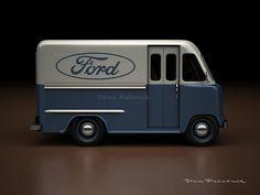 A Garagem Digital de Dan Palatnik   The Digital Garage Project: 1950 Ford Step Van