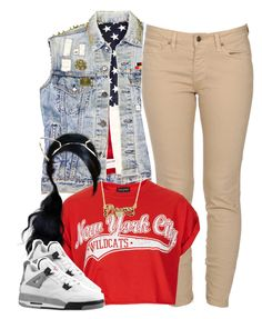 """""""Untitled #1340"""" by lulu-foreva ❤ liked on Polyvore featuring Ksubi, Topshop and Retrò"""