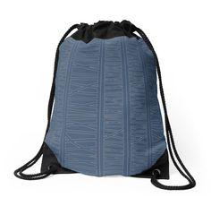 Retro Grace Drawstring Bag (Navy) by Ashley Behnke