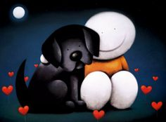 Always Here For You by Doug Hyde. Available from Artworx Gallery. www.artworx.co.uk - This is a great idea for Valentine's Day!