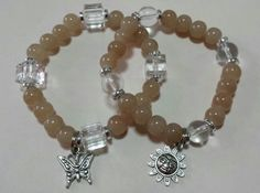 Brown glass bead bracelets